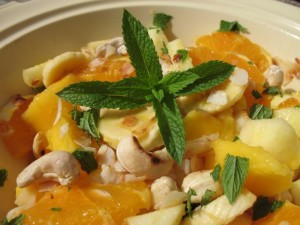 mango and mint fruit salad