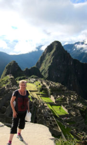 On top of the world: Getting my mojo back, in Machu Pichu16 months after completing treatment.