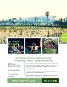 Health practitioner retreat in Bali