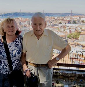 gill stannard naturopath with father in Lisbon