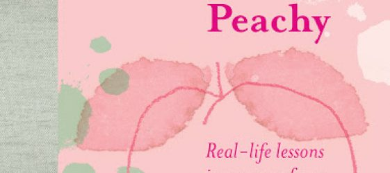 book cover with pink line drawing of a peach with text when life is not peachy Real-Life Lessons in Recovery from Heartache, Grief and Tough Times By Pip Lincolne