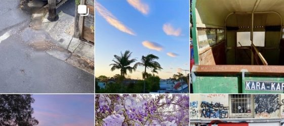 instagram grid of colourful pictures